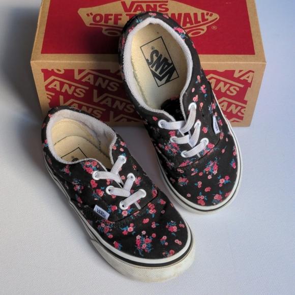 Vans Floral Toddler Shoes * Size 10